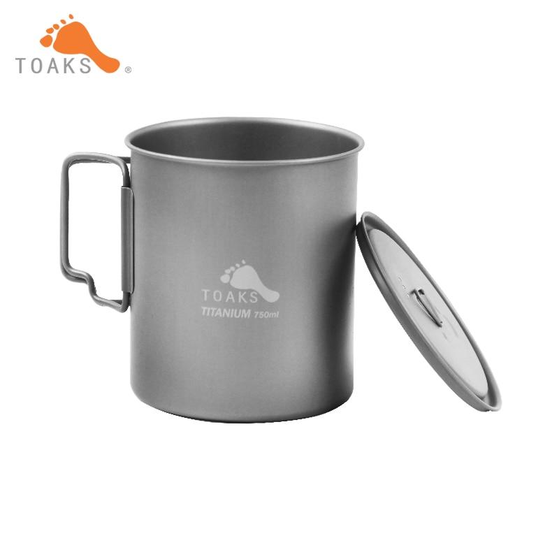 ФОТО TOAKS POT-750 3in1 Titanium Pot 750ml Ultralight Portable Titanium Bowl Camping Titanium Cup