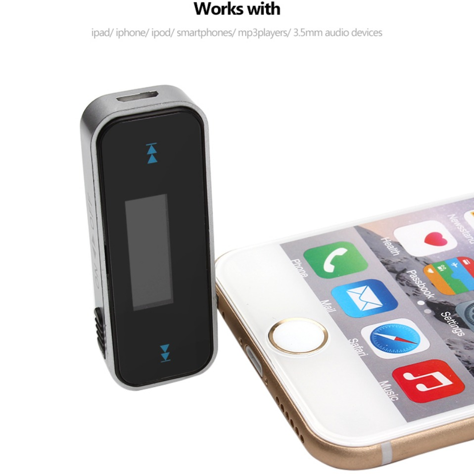 Mini FM Transmitter 3.5mm In-car Music Audio Bluetooth FM Transmiter Car MP3 Player 3.5mm Car Display FM Modulator Car Modulator