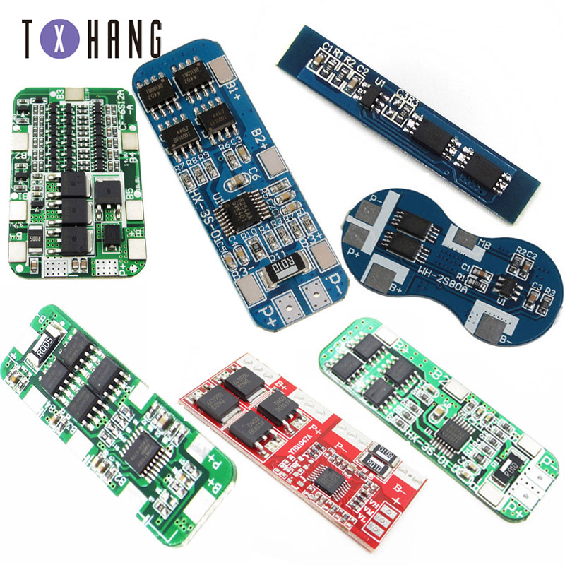 2S 3S 4S Li-ion Lithium Battery 18650 Charger PCB BMS Protection Board For Drill Motor Lipo Cell Module image