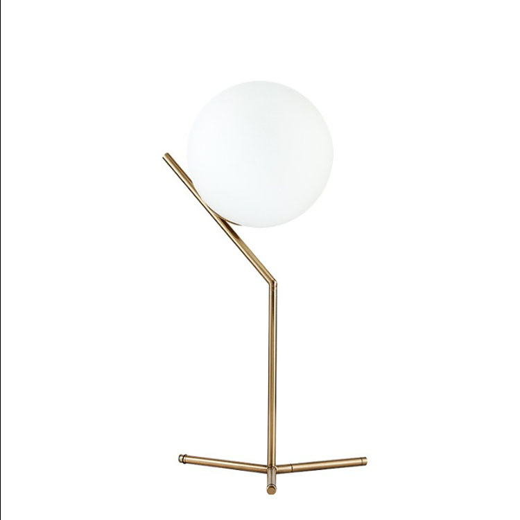 Nordic Ball Glass Table Lamp Bedroom Bedside Fashion Creative Desk Lampromantic fashion bedroom bedside Table Lamp 3 beads metal anal plug electro shock kit accessories wires butt plugs anus vagina dilator stimulator buttplug adult sex toys
