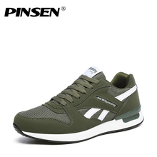 PINSEN Shoes Men Sneakers New 2018 Unisex Spring Casual Men Shoes Lace-up Breathable Flats Trainers Shoes chaussure homme