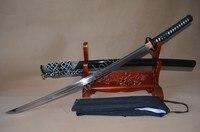 Соответствующие wakizashi для Катана накладного монтажа 1095 высокоуглеродистой Сталь обкладка глиной лезвие Sharp может сократить бамбук натурал