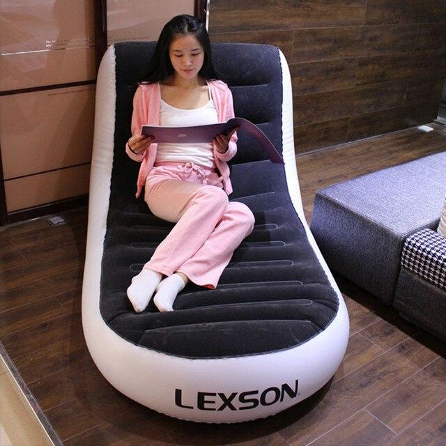 складной шезлонг кресло ленивый надувной диван кровать двуспальная