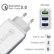 Original YILIZOMANA 30W Quick Charger QC 3.0 EU US UK 3 Ports USB Fast travel Chargers For iPhone Samsung Xiaomi  Mobile Phone