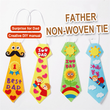 kindergarten lots arts crafts diy toys Dad tie crafts kids educational for children's toys gift girl/boy christmas gift 16906 new kindergarten lots arts crafts diy toys creative cartoon nonwoven fabric glove crafts kids finger educational for children s toys fun party diy decorations girl boy christmas gift 18903