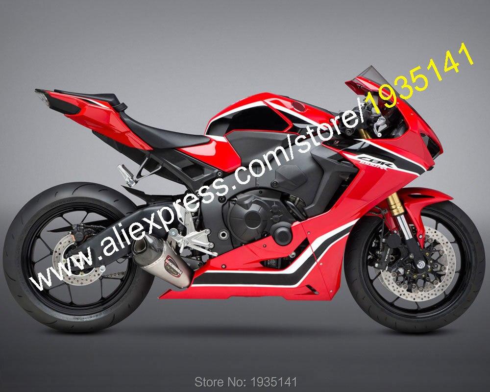 Ventas calientes, para Honda CBR1000RR Fireblade 2017 2018 cuerpo Kit CBR CBR1000 RR negro rojo blanco carenado Sportbike (inyección)
