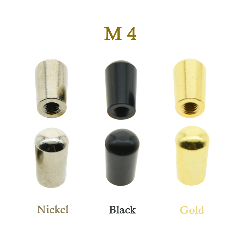 KAISH 2pcs Metric Nickel/Black/Gold  M4 METAL LP Guitar Toggle Switch Tip for Import LP kaish black p90 high power sound neck