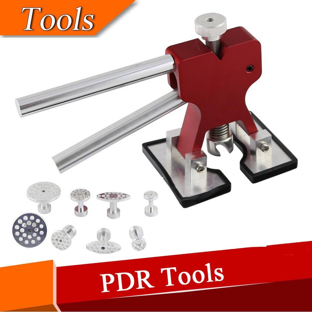 PDR Dent Lifter Glue Puller Hand Lifter with 8 Pieces Aluminum Glue Puller Tabs - PDR Tool - Dent Repair  цены