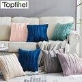 Мягкие бархатные наволочки в полоску, декоративный чехол для диванной подушки, для дома, дивана, автомобильного кресла, 45x45 см