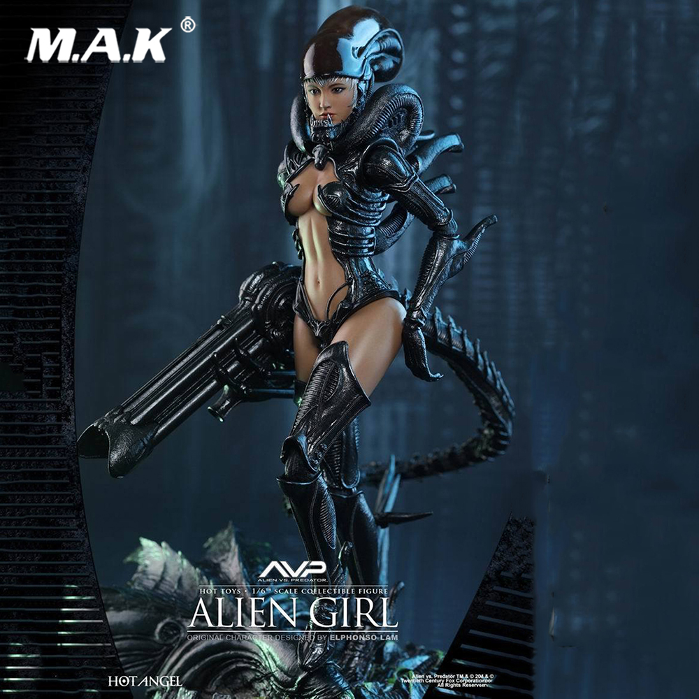 DIY Doll Toys 1/6 Scale Beautiful Female 1/6 Female Alien vs Predator AVP Alien Angel Action Figure 12 Action Figure Doll 1 6 scale figure doll clothes for 12 action figure doll accessories female sexy dress not include doll and other accessories