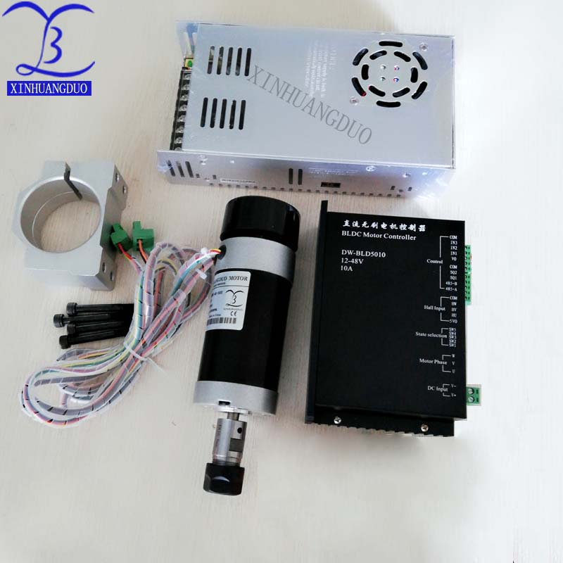 Brushless 500W CNC Router Spindle ER11 or ER16 Machine Motor Clamp Bracket brushless Motor Driver Power