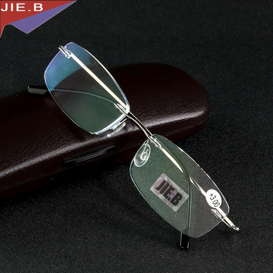 4fa24c90ae Rimless Titanium Alloy Ultra light reading glasses +1 +1.5 +2 +2.5 +3 +3.5 +4  ochki dlya chteniya sin montura gafas de lectura-in Reading Glasses from ...