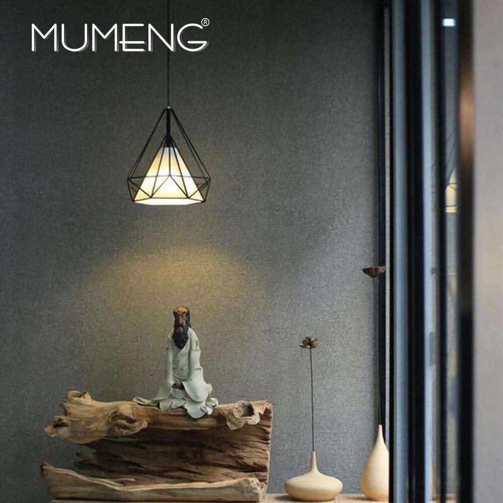 wohnzimmer lampe industrie : Mumeng Retro Eisen Pendelleuchte Industrie Loft Wohnzimmer