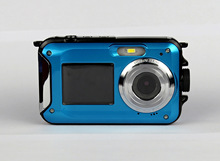 Double screen camera waterproof camera photography camera maximum support 32G TF card 3M waterproof