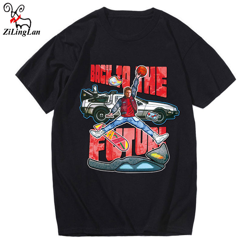 ZiLingLan Streetwear Novelty back Future Printed Popular Hipster t-Shirt Summer Casual cool tees Us/EUR Size