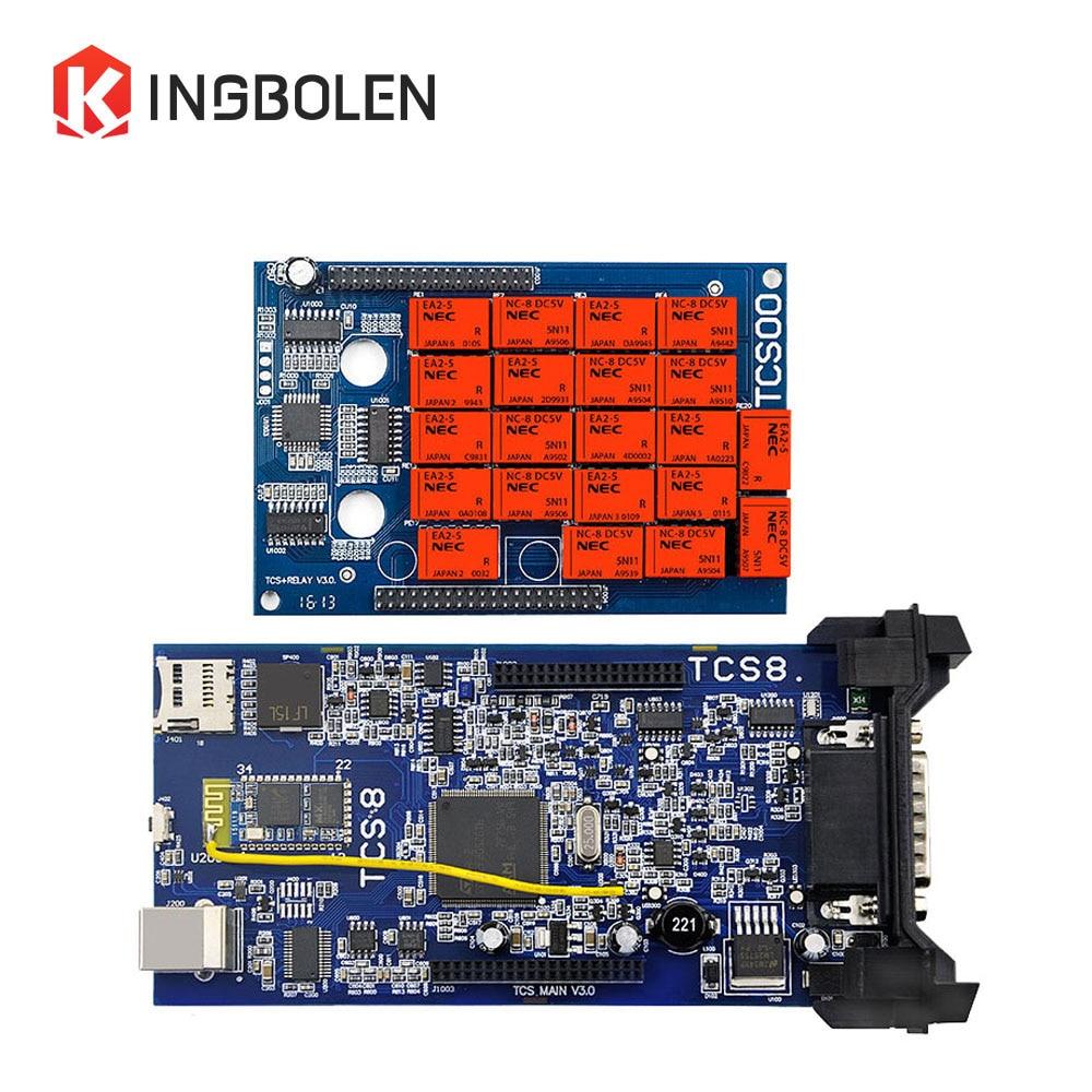 Цена за Супер CDP TCS Последние 2014 R2 R3 CDP TCS Pro Plus Бесплатная активации новый VCI с Bluetooth сканер LED 3 IN1 коробки 2015 R1 R3