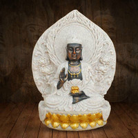 Buddhist Statue New Sandstone Southeast Asia Buddha Statue Home Resin Feng Shui Ornaments Crafts Holiday Gift