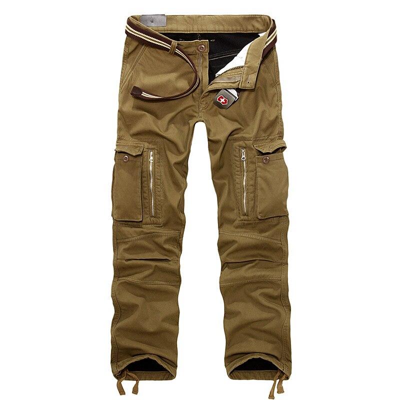 100% Wahr Plus Größe Mens Dicken Winter Hosen Hot Pants Volle Länge Multi Pocket Military Casual Baggy Taktische Hosen Jogger Hosen Einfach Zu Verwenden
