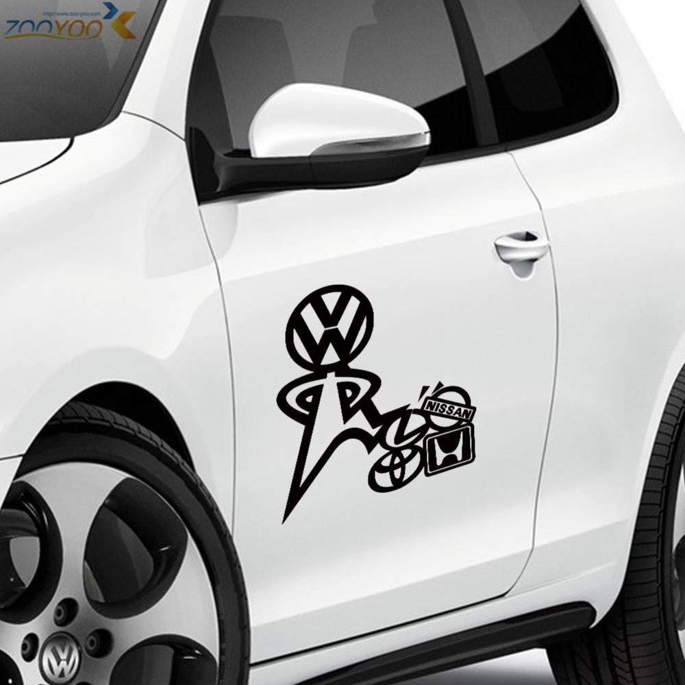 Cool car styling stickers car decorations vinyl wall decals waterproof tile stickers vw say no to janpan