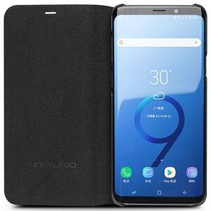Image 4 - Qialino本革フリップケース三星銀河s9ファッション高級極薄ステント電話カバー三星s9 +プラス6.2インチ