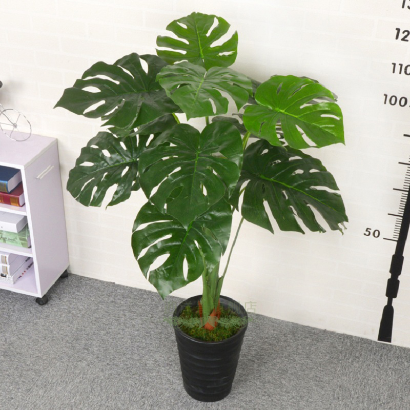Online buy wholesale silk floor plants from china silk for Green floor plant