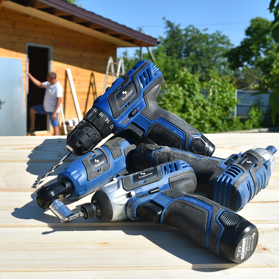 Image 5 - PROSTORMER 12V Series Cordless Power Tools Household DIY Electric Drill Screwdriver Wrench Ratchet Wrench Professional Tools-in Electric Drills from Tools on