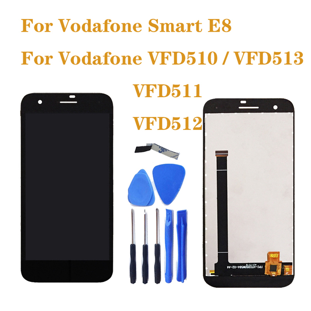 For Vodafone Smart E8 VFD510 LCD Monitor Touch Screen Mobile Phone Digitizer Component Replacement VFD 510 511 512 513 display