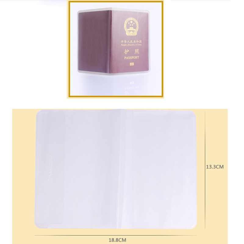 2019 прозрачные водонепроницаемые держатели для ID карт, защита от грязных пятен, Обложка для паспорта, защита для паспорта, ПВХ материал, оптовая продажа