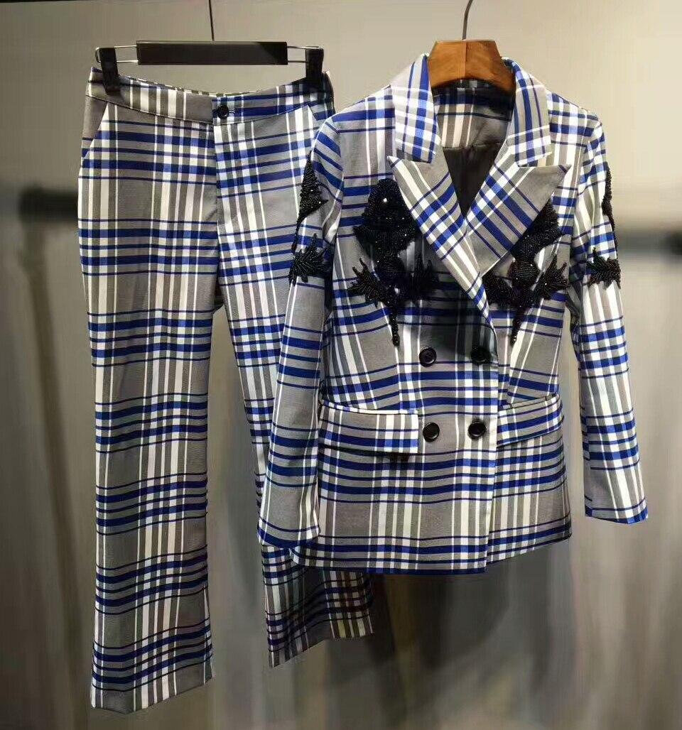 2017 Women's Suits Set,suit Jacket And Pants For Women,amazing Office Two Piece Set,elegant Slim Suit Top And Female Pants Suit