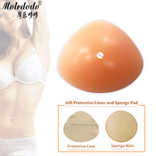 Silicone formes mammaires Triangle faux sein mastectomie fausse prothèse mammaire 500g pour postopératoire crosscommode seins D40(China)