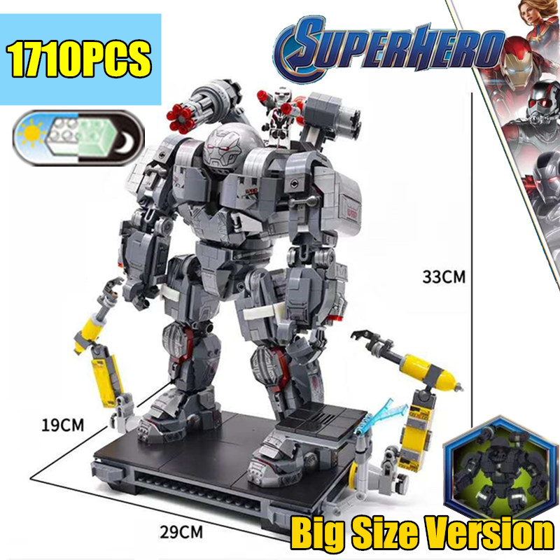 Nouveaux Super héros fer homme guerre Machine hulk Buster fit legoings Marvel Avengers Endgame 76124 chiffres blocs de construction briques jouets