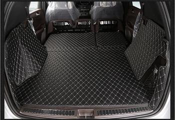 Brand New For Mercedes Ben GLE320 5PCS Car 3D Full Surround Trunk Mat Carpet Inside Mats PU Leather Pad Auto Accessories