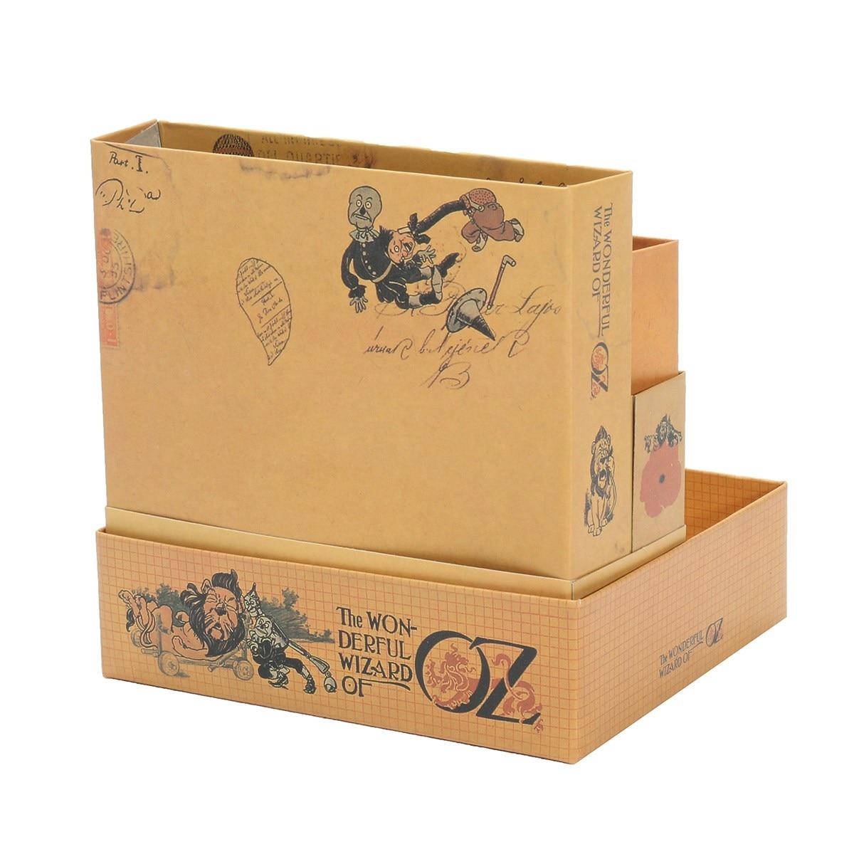 Diy Desktop Box The Wizard Of Oz Storage Organizer Box Vintage Stationery Home Decor Fairytale Illustration