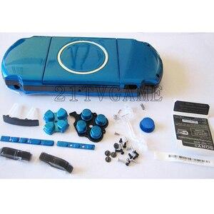 Image 1 - עבור PSP3000 PSP 3000 משחק קונסולת החלפת מלא שיכון מעטפת כיסוי מקרה עם כפתורי ערכה