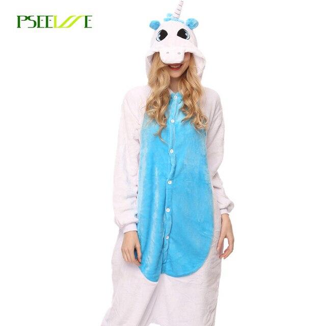 2c8d325caf Winter Flannel Unicorn Pijama Cartoon Cosplay Adult Unisex Homewear Onesies  for adults animal Pajamas Women pajama unicornio