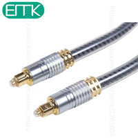 OD8 0mm High Quality Silver Digital Optical Optic Fiber Toslink Audio SPDIF Cable Cord 1m 1