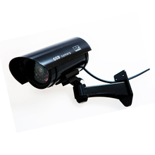 Fake Camera Bullet Waterproof Security Camera Fake Surveillance CCTV Camera with Flashing LED Red