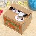 Encantador lindo divertido de la novedad animalito robar monedas Piggy Bank Cent caja de ahorro Pot Case para el mejor regalo de cumpleaños para los niños