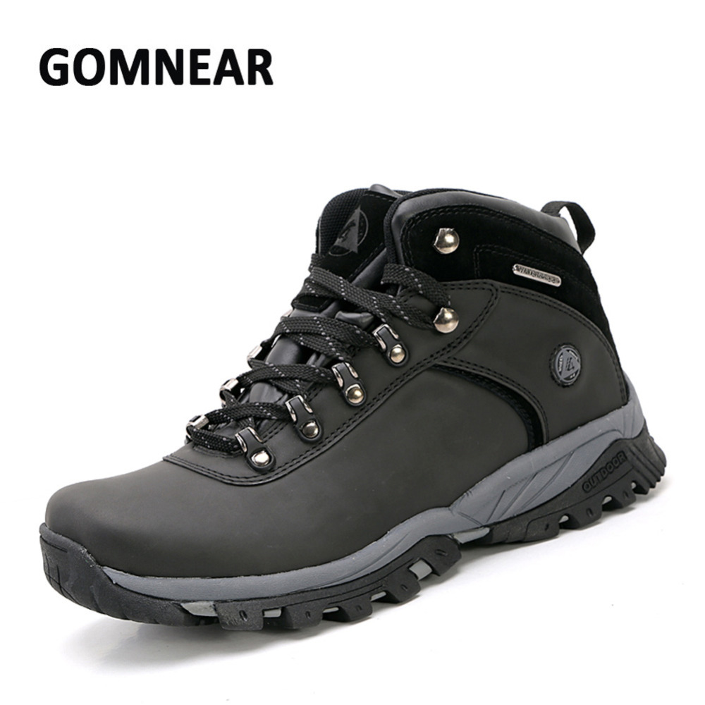 GOMNEAR New Big Size Waterproof Hiking Shoes Outdoor Mens Breathable Camping Mountain Climbing Shoes Anti-skid Hunting BootsGOMNEAR New Big Size Waterproof Hiking Shoes Outdoor Mens Breathable Camping Mountain Climbing Shoes Anti-skid Hunting Boots