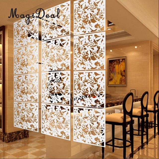 MegiDeal 4x Butterfly Flower Hanging Screen Curtain Room Divider Partition Wall Home Decoration Accessories White