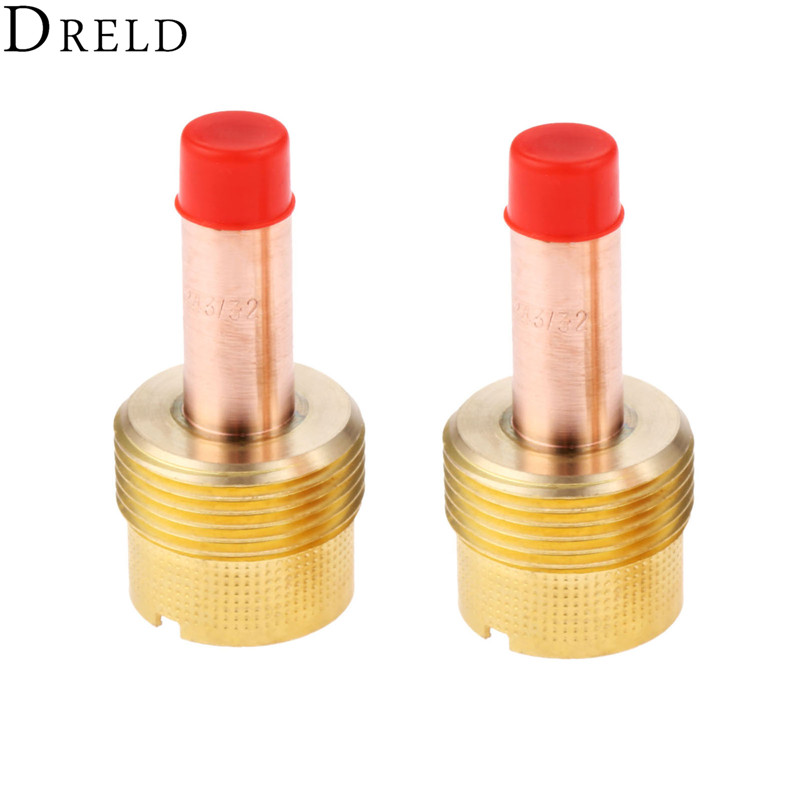 """5X 45V64 Gas Lens Collet Body For TIG Welding Torch WP-17//18//26 2.4mm 3//32/"""" New"""