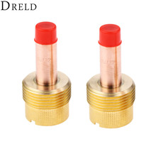 DRELD 2pcs TIG Collets Body Gas Lens 45V64 3/322.4mm for Welding Torch Consumables SR PTA DB WP 17/18/26 Series 2PK
