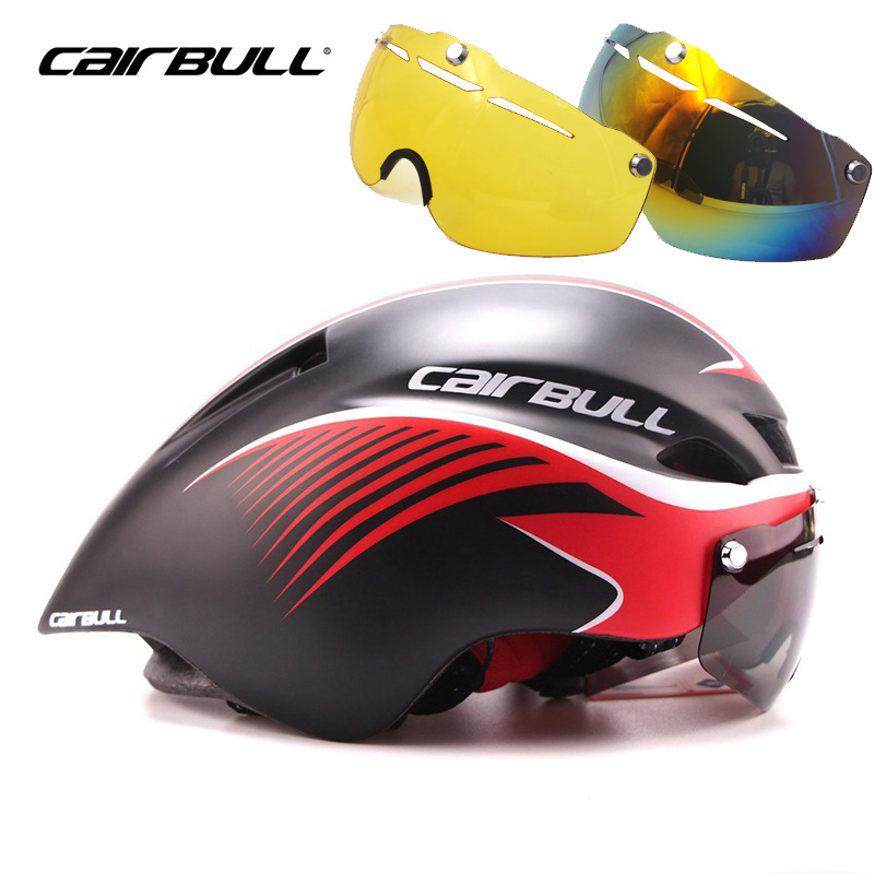 CAIRBULL Bicycle Helmet Integrally Molded Aerodynamic Sport MBT Safe Cycling Helmet 3 Lens Set Goggle Bike