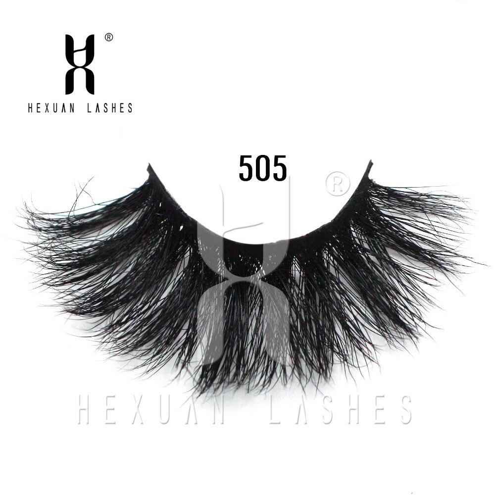 HEXUAN LASHES Luxury 25mm long mink eyelashes Siberian Strips False 3D lashes natural thick
