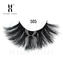 HEXUAN LASHES Luxury 25mm long mink eyelashes Siberian Strips False 3D lashes natural thick