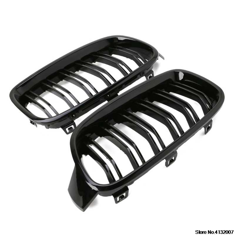 1Pair Gloss Black Front Grille Kidney For BMW 3-Series F30 F31 F35 2012-2016 NEW 828 Promotion