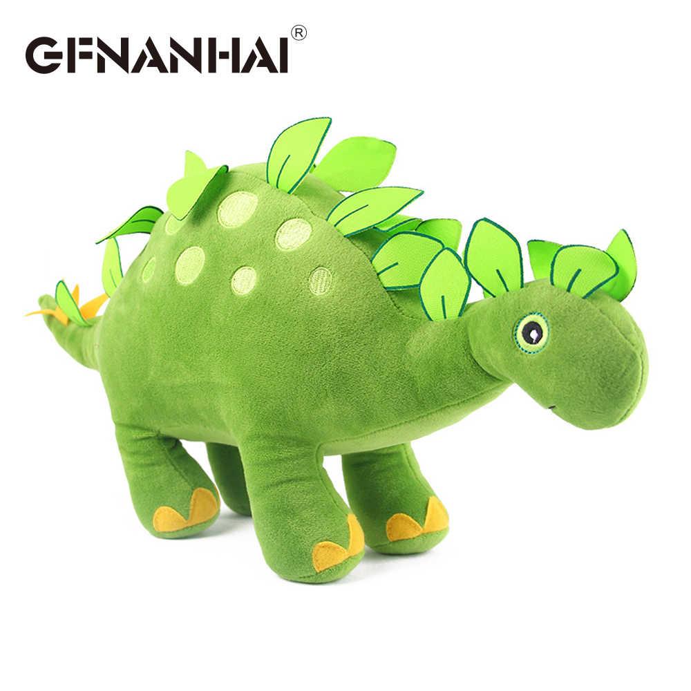 1 pc 38 cm dos desenhos animados criativo Tyrannosaurus rex Triceratops dinosaur plush toy stuffed animal dolls para crianças meninos presente de aniversário
