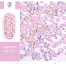 350 Pcs SS4-SS20 Mix Size Pink Opal Crystal Nail Rhinestones Flatback Non Hotfix Glass Gems 3D Charm Strass Nail Art Decorations mix sizes opal colors crystal glass non hotfix flatback rhinestones strass nail art nails accessoires nail art decoration