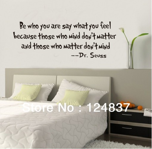 & Who You Are Quote Wall Decal
