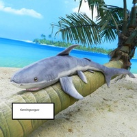 big plush gray shark toy new simulation shark doll gift about 140cm 2587